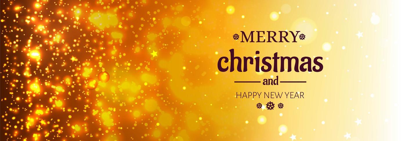 Hermoso fondo de banner de brillantes brillos de feliz Navidad vector