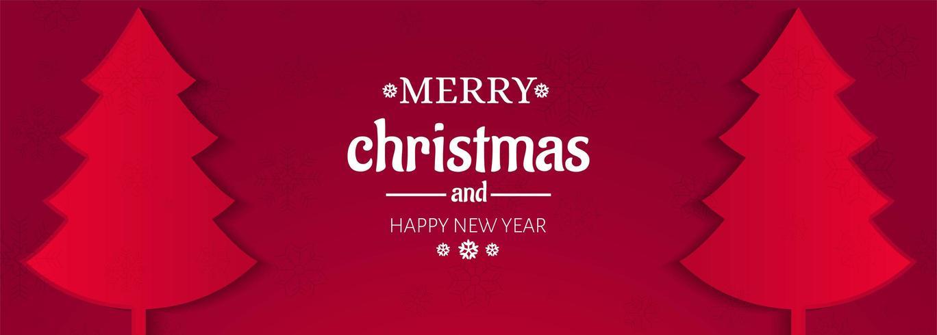 Tarjeta de felicitación de feliz navidad para vector de diseño de banner
