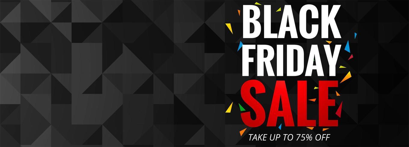 Cartel de promoción de venta de viernes negro o vector de plantilla de banner