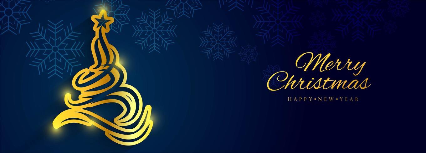 Hermoso vector de fondo de banner de Navidad