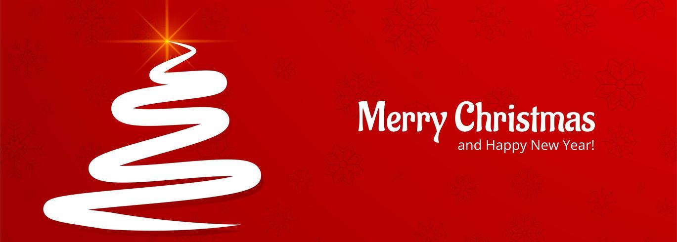 elegante banner de celebración de tarjeta de árbol de Navidad vector