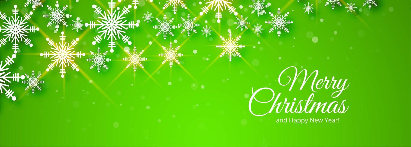 feliz navidad diseño de banner verde vector