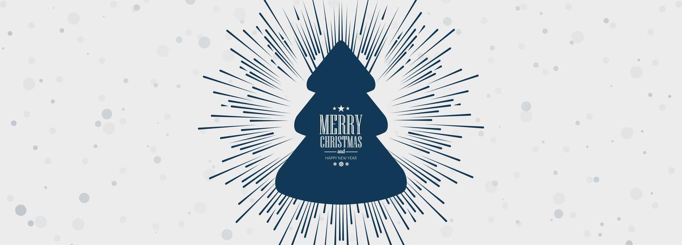 elegant christmas tree card celebration banner  vector