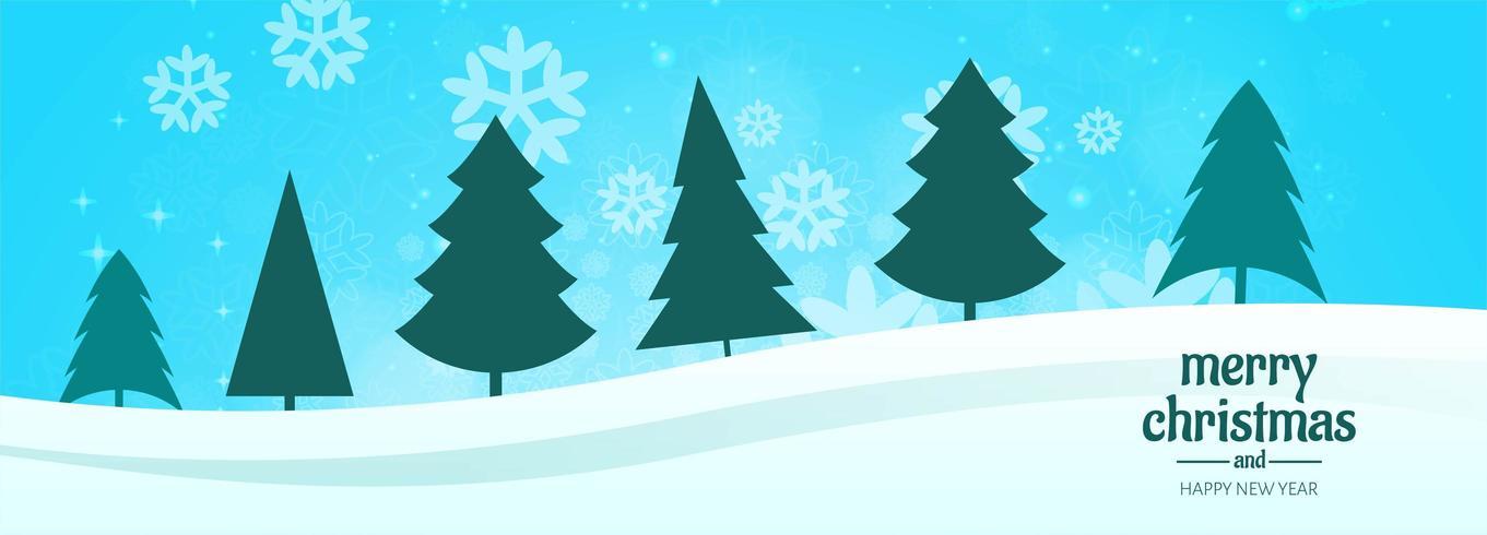 Banner de Navidad para vector de fondo de tarjeta de árbol de Navidad