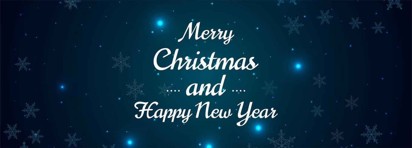 Fondo de diseño de banner de copos de nieve de feliz Navidad vector