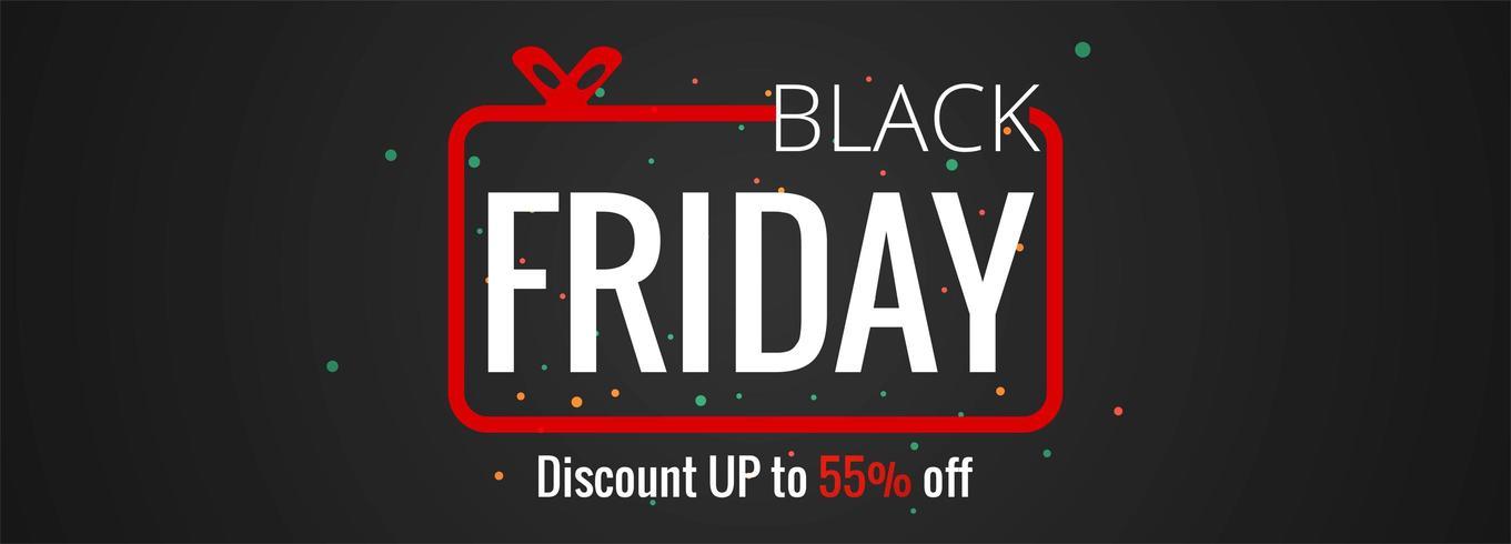 Cartel de venta de viernes negro o diseño de banner vector