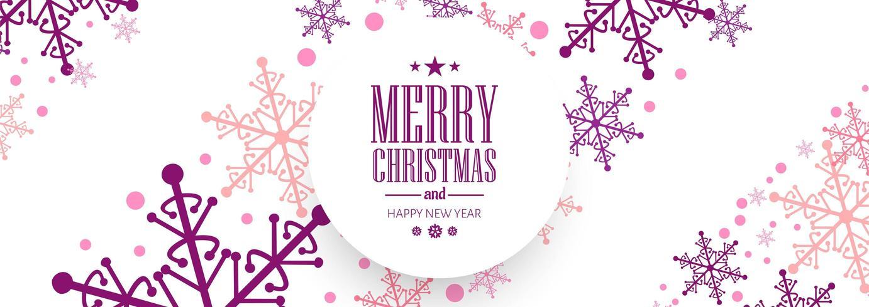 Vector de fondo de banner de celebración de tarjeta de Navidad