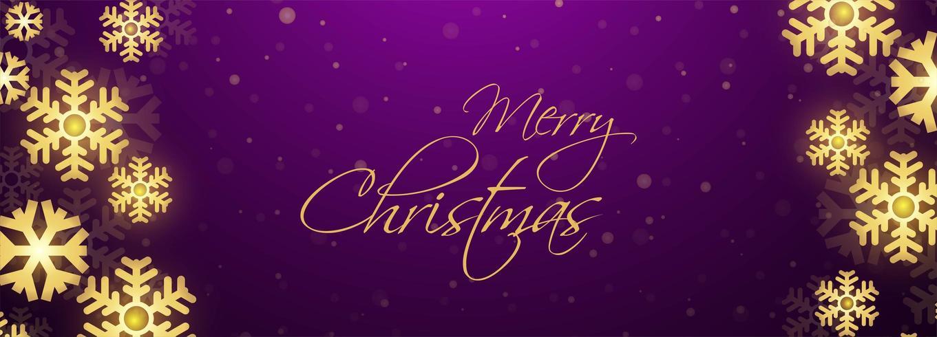 Hermosa plantilla de banner de festival de tarjeta de Navidad vector