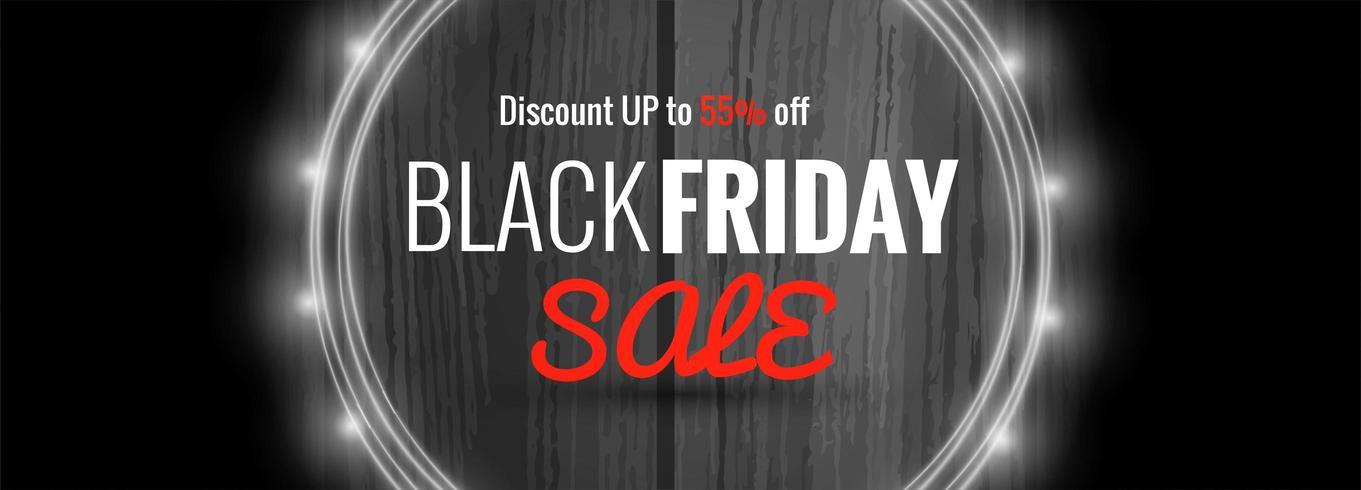 elegance banner for sales on Black Friday template vector