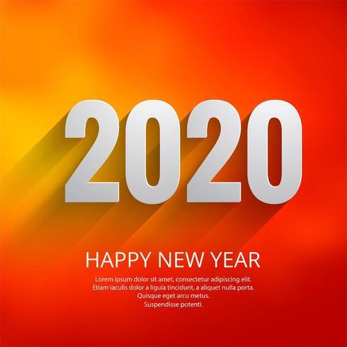 Naranja brillante 2020 año nuevo festival fondo vector