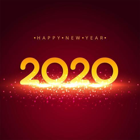 Vettore luminoso di celebrazione del fondo del nuovo anno 2020