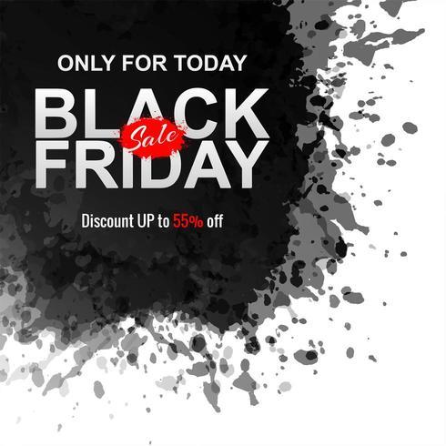 Fondo de salpicaduras de tinta de viernes negro abstracto vector