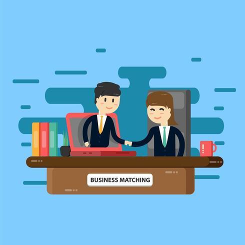 Concepto de reunión de negocios personas conversando en la sala de conferencias vector