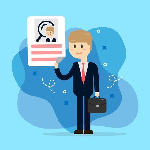 Interview met Human Resources. werving vector