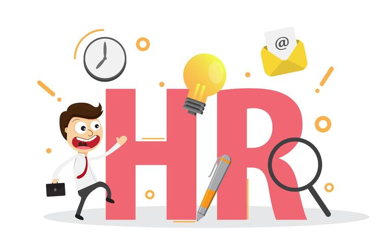 Human resources, recruitment, HR management, career. vector