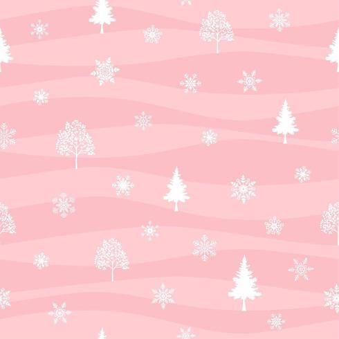 Vacaciones de invierno de patrones sin fisuras vector