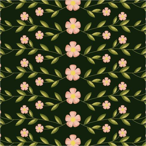 tarjeta de decoración de flores y hojas vector