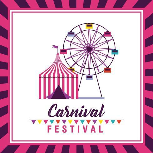 circus and fair carnival festival poster vector