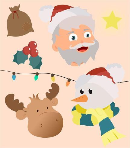 Weihnachten Set Vektor