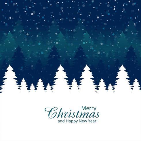 Fondo de vacaciones de celebración de tarjeta de árbol de Navidad vector
