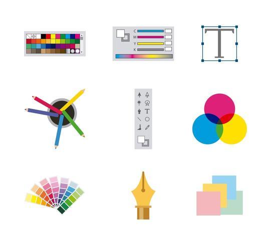 working process tools vector