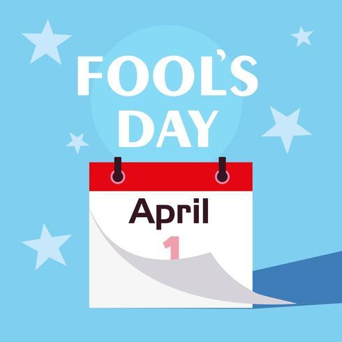 Aprilscherztagskalender erster Tag vektor