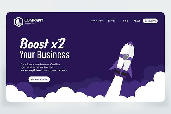Boost Business Website Landing Page vector