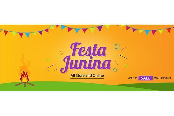 diseño de plantilla de fondo de cubierta de festa junina vector