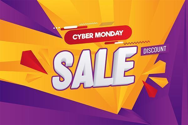 Cyber segunda-feira venda abstrata ilustração vetorial fundo vetor
