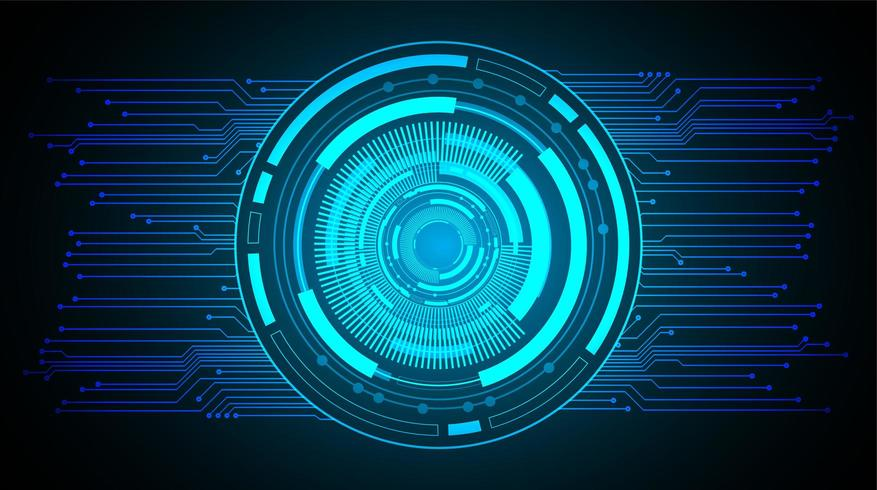 Abstract glowing blue futuristic hud design  vector