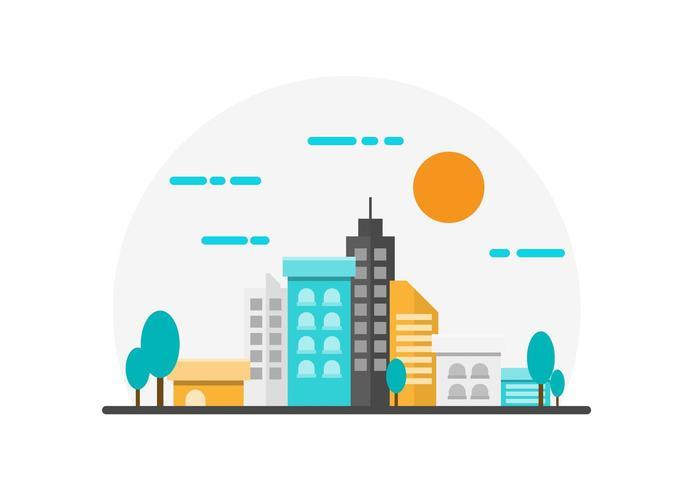 Ilustración del paisaje de la ciudad vector
