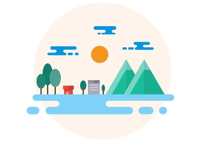 Countryside Landscape Illustration vector