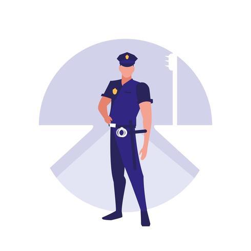polisman avatar karaktär vektor