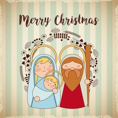 Saludo religioso de navidad vector