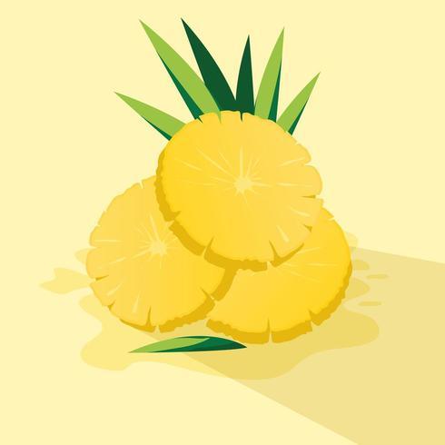 Fetta di illustratio di vettore di disegno di ananas