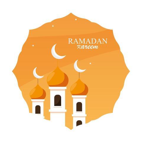 bâtiment de la mosquée ramadan kareem dans le cadre
