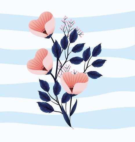 simpatici fiori tropicali piante con foglie