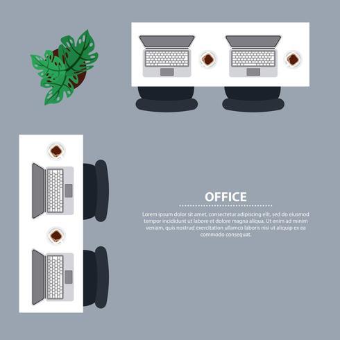Büroarbeitsplatz Geschäft