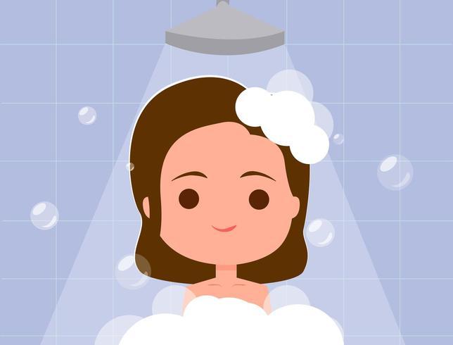 Mädchen baden