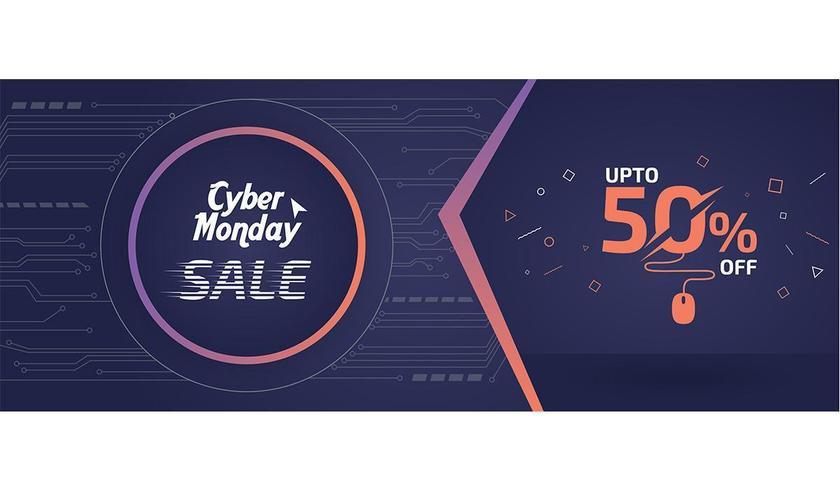 Anúncio de banner de venda de segunda-feira cibernética vetor