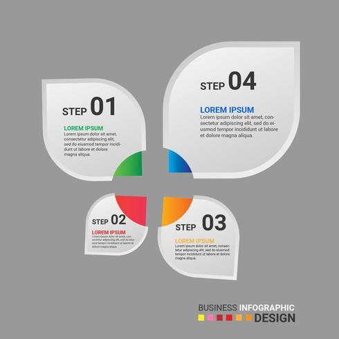 Infographic Element des Blumenblattsteigungs-Geschäfts mit Wahl oder Schritten