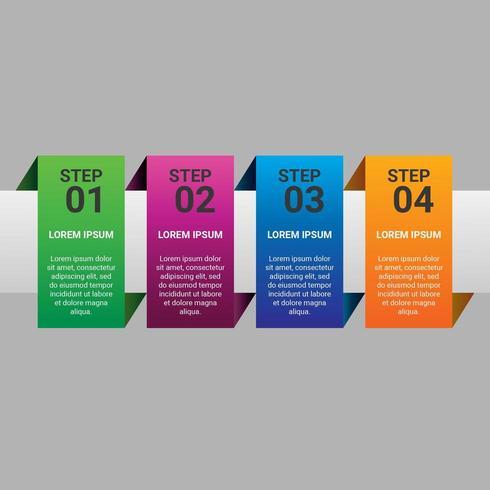 Elemento de infografía empresarial degradado de pasos con opción o pasos