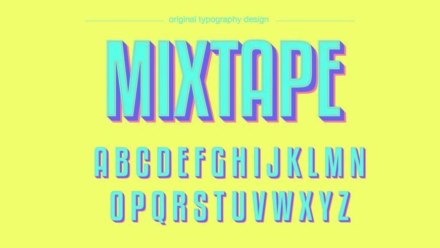 Diseño colorido de la tipografía Neon Bold vector