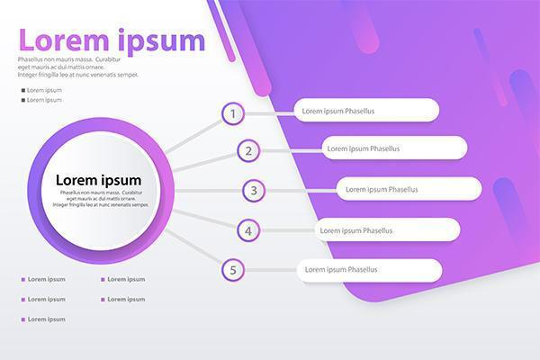 infographic 5 option vector banner concept template