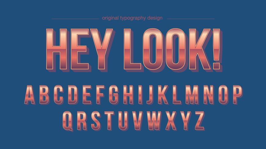 Fuente Artística Vintage Orange Chrome vector