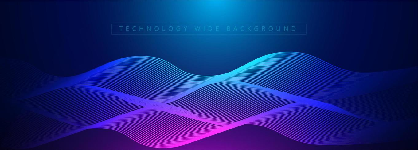 Abstract 3d technology and science neon visualization vector