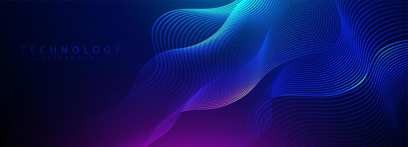 Abstract 3d technology and science neon visualization