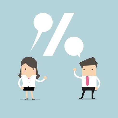 Businessman and Businesswoman talking  vector