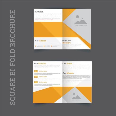 diseño corporativo de la plantilla del folleto del doblez cuadrado vector