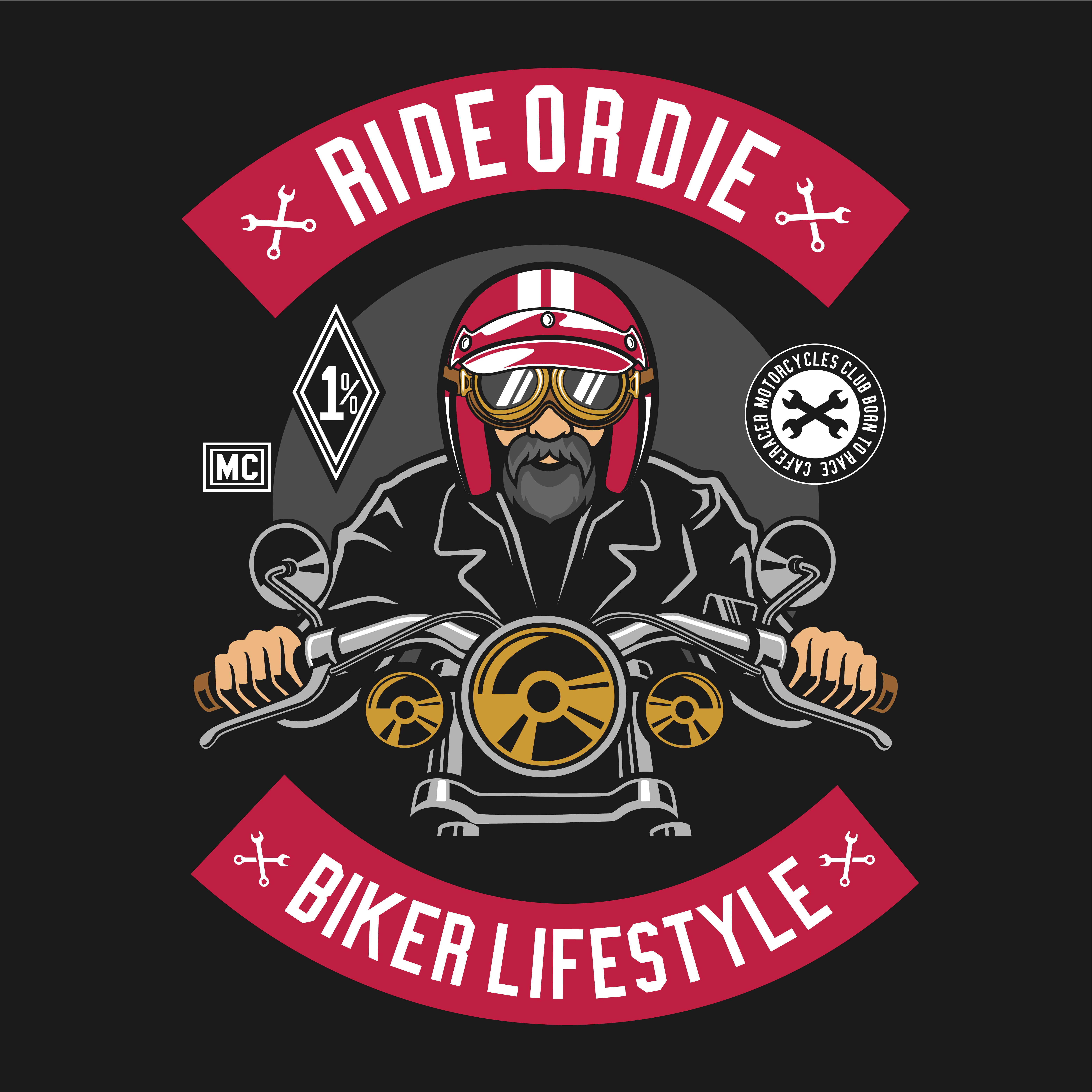 Ride or die biker lifestyle - Download Free Vectors ...